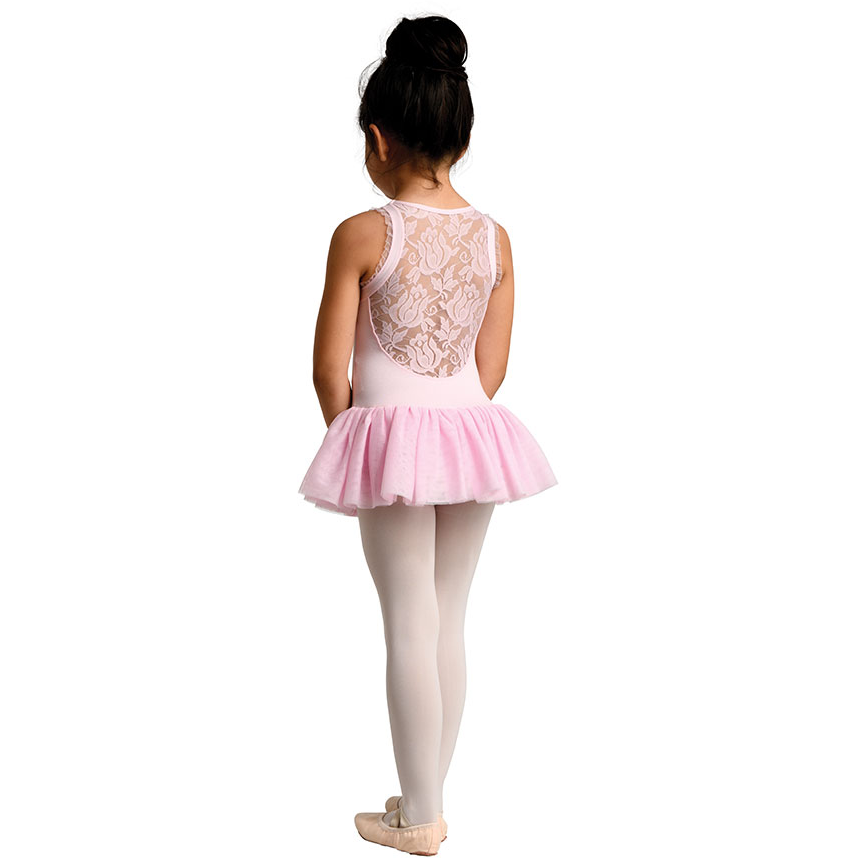 Bolero Style Lace Back Dress - Child