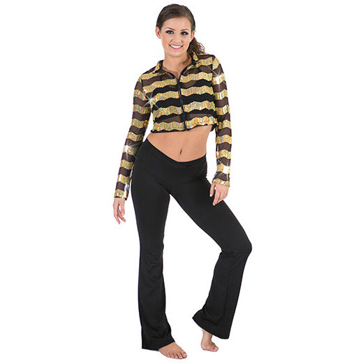 Sequin Stripe Jacket - Inspirations Dancewear - 1