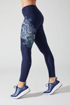 Sea Spray Printed Leggings - Adult