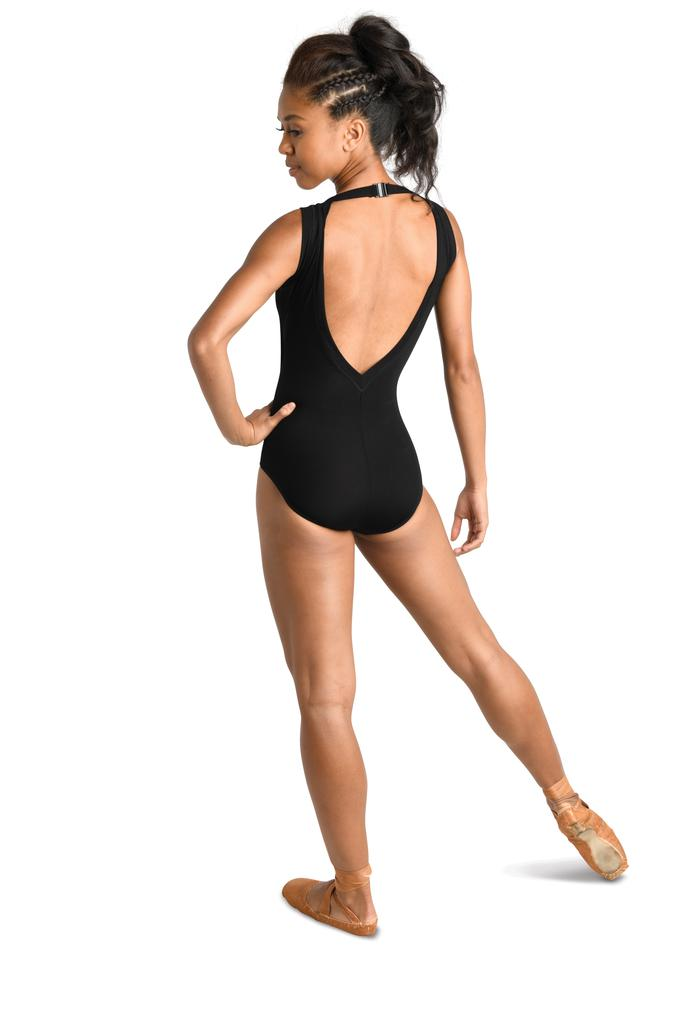 Double V Rib Tank Leotard - Child