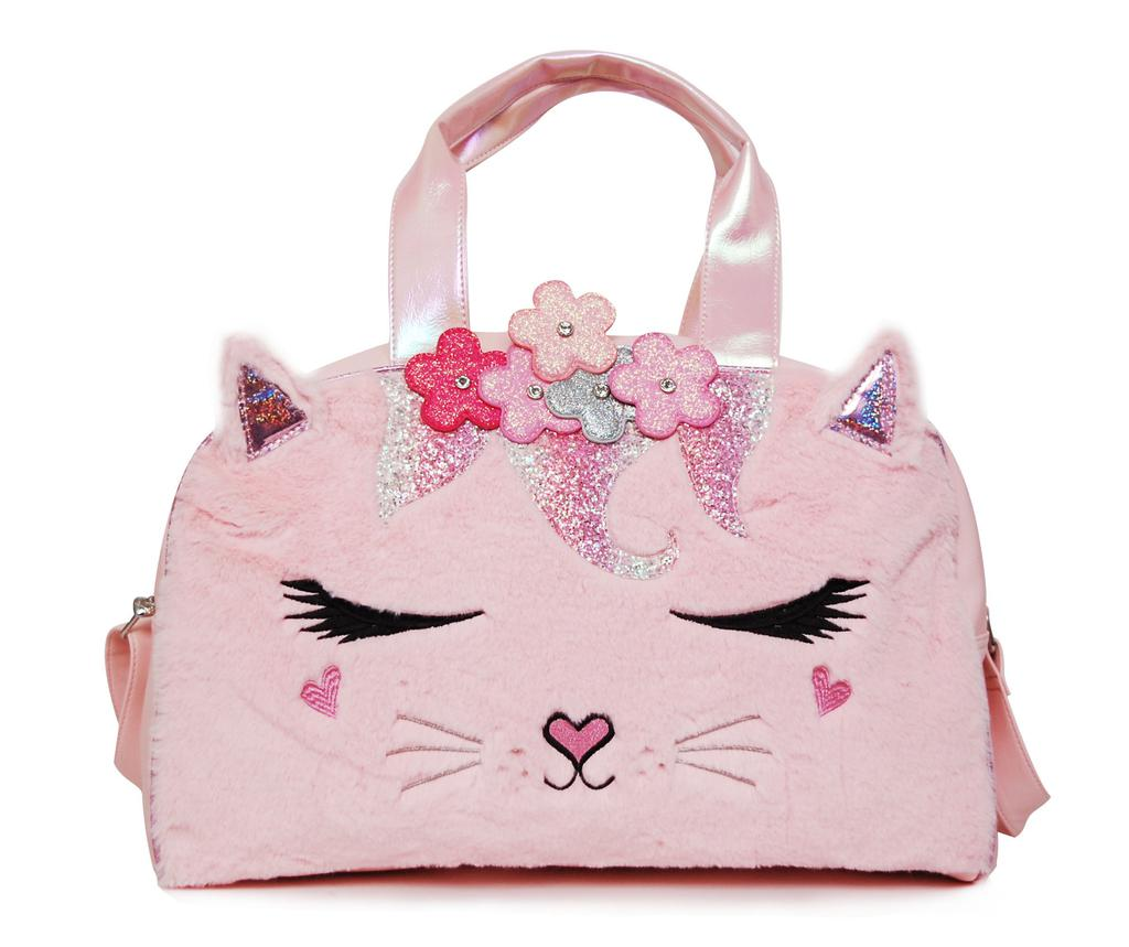 Pink Flower Crown Kitty Duffle
