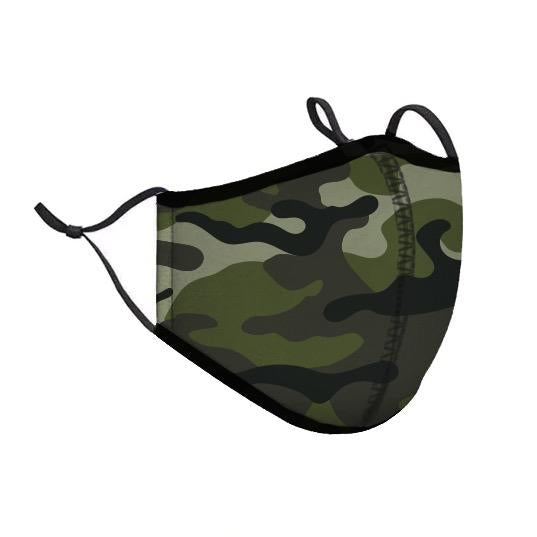 Protective Face Cover - Adult Small - Green Camo