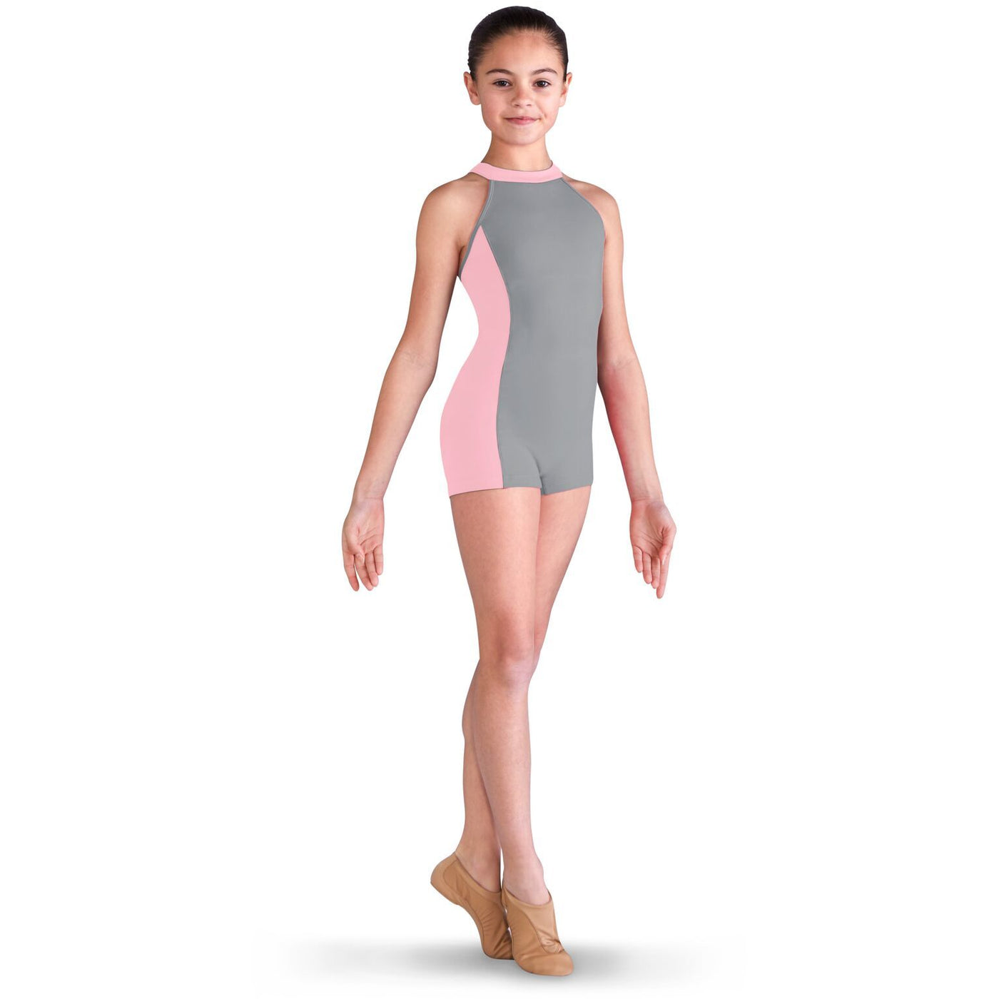 Two Tone Strap Unitard - Child