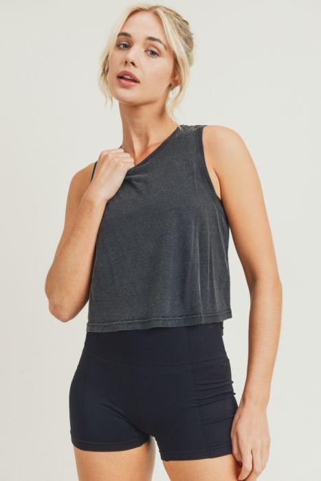 Flow Crop Top with Pinch-Stitch Back - Adult