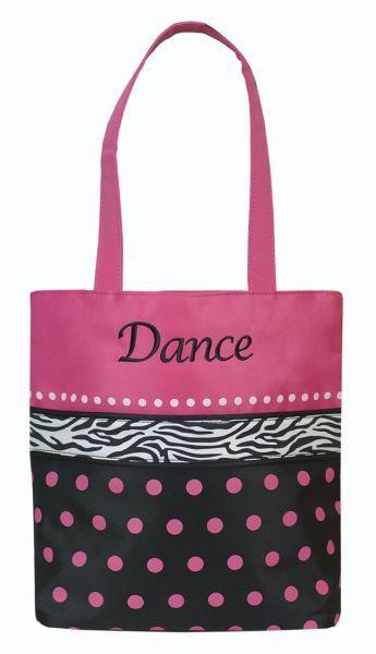 Dots n Zebra Small Dance Tote