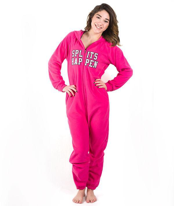 Splits Happen Fleece Onesie - Adult