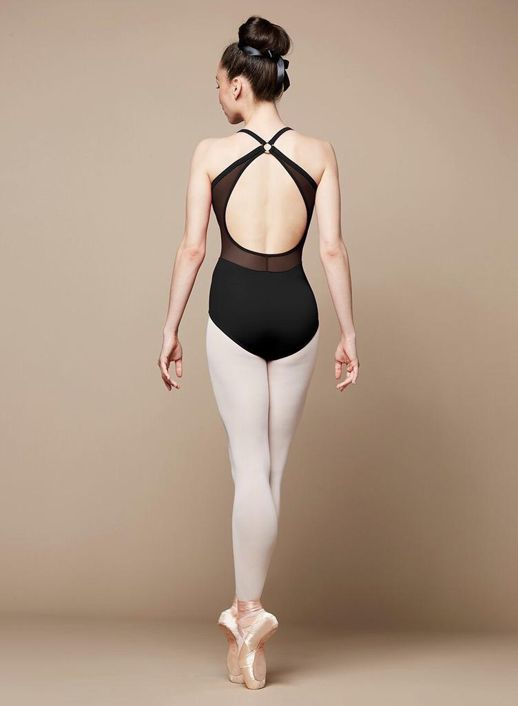 Ring Front Open Back Camisole Leotard - Adult