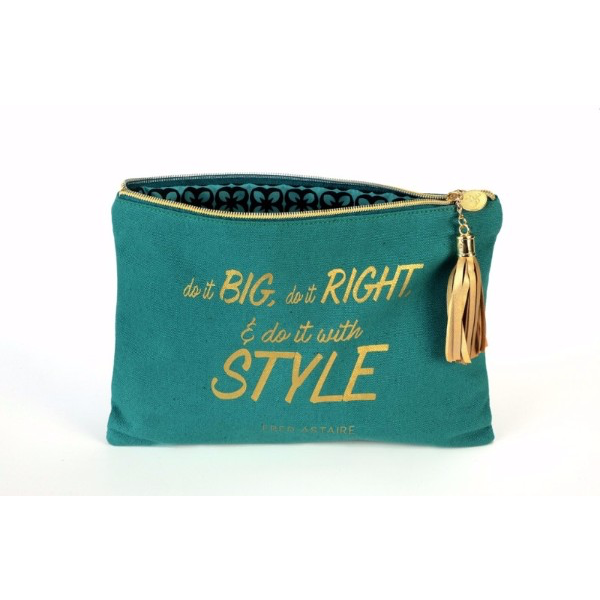 Fred Astaire Quote Canvas Cosmetic Bag