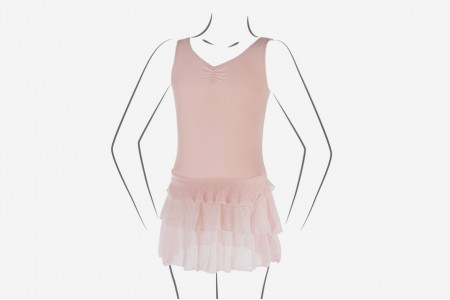 Layered Skirt Tank Dress - Child