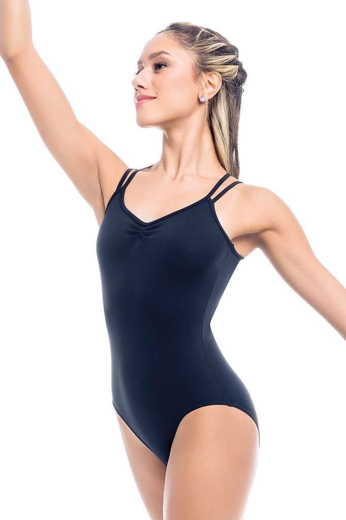 Double Strap Leotard with Macrame Insert - Adult