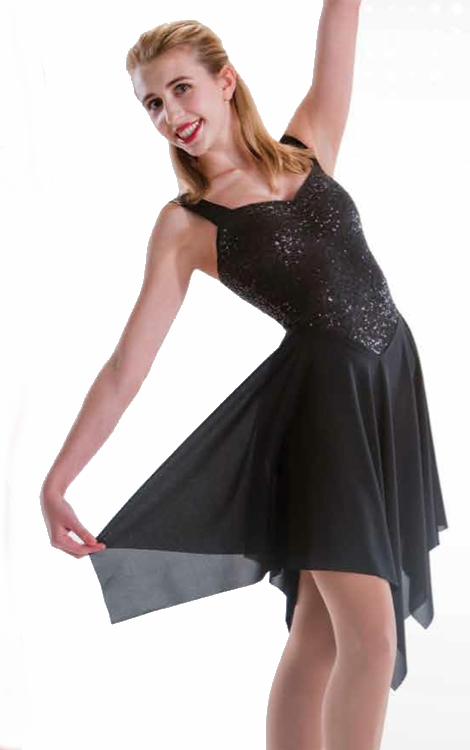 Pinch Front Sequin Dress