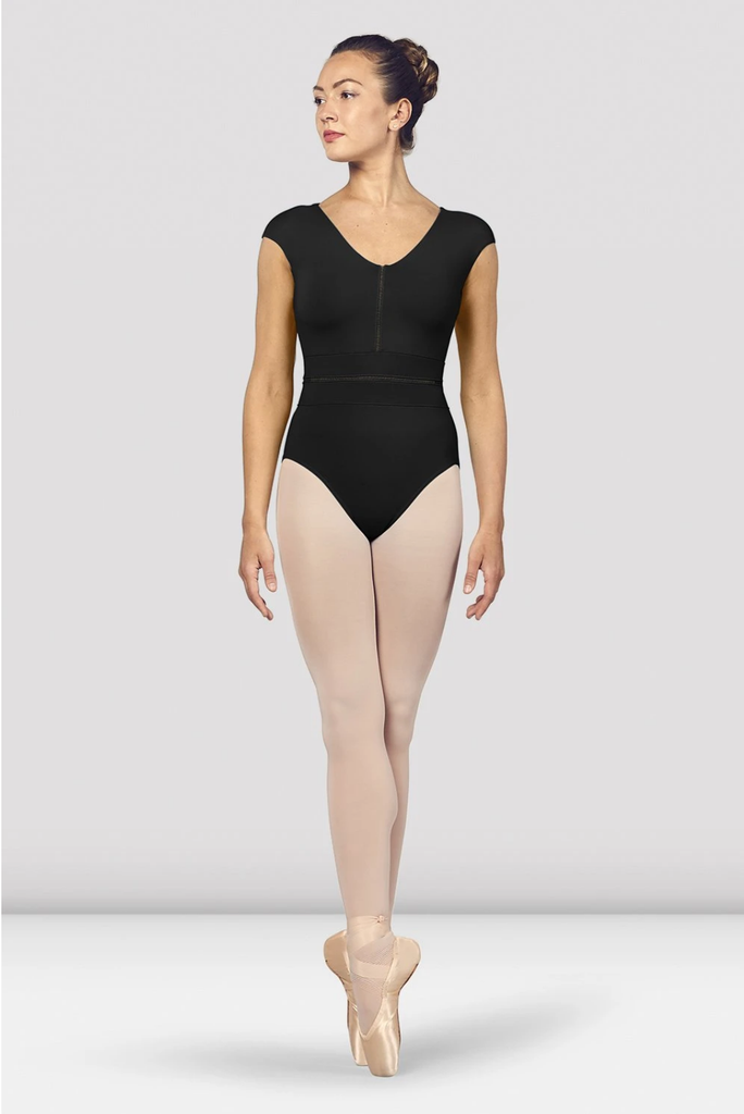 V Neck Ladder Trim Leotard - Adult