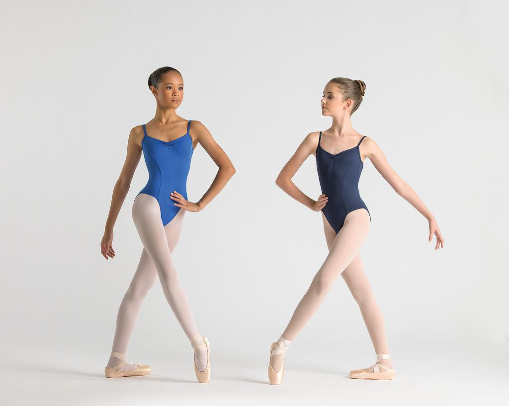 Jania Pinch Front Leotard with Square Legline