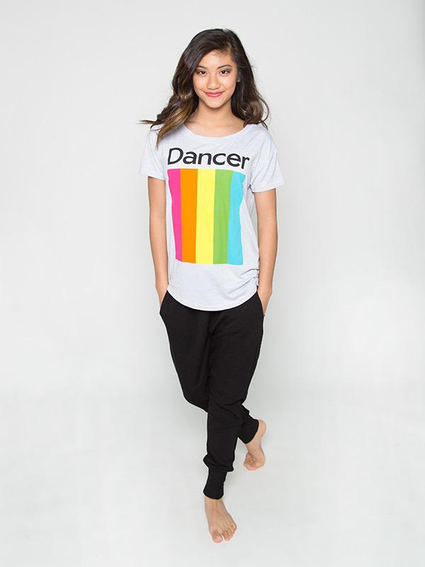 Rainbow Dance Upscale Tee - Adult