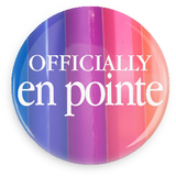 Offically En Pointe Button - Vertical Rainbow - Inspirations Dancewear