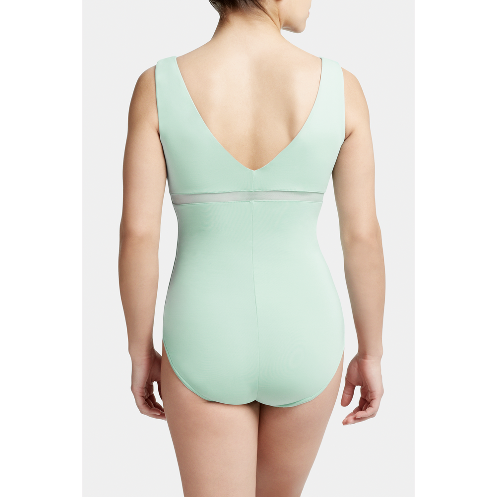 Pintuck Front Tank Leotard - Adult