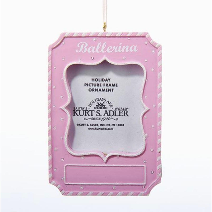 Ballerina Picture Frame Ornament