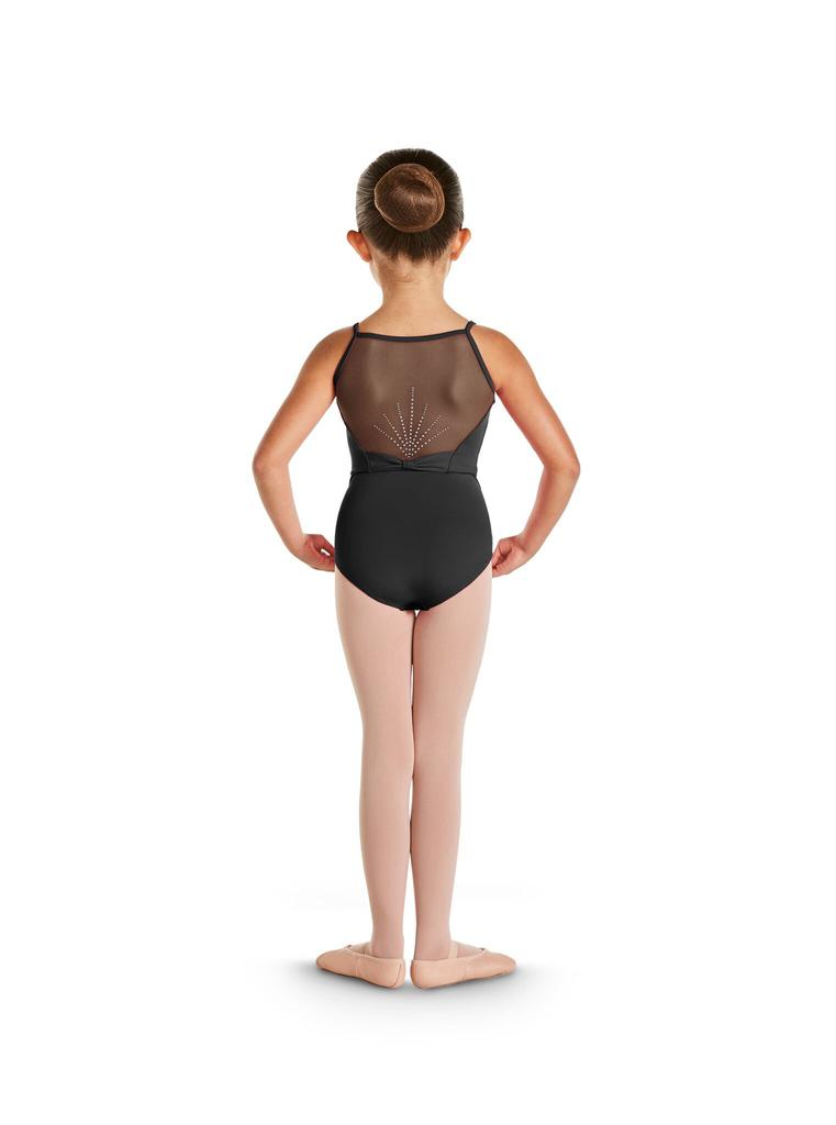 Bow Detail DIamante Back Leotard - Child