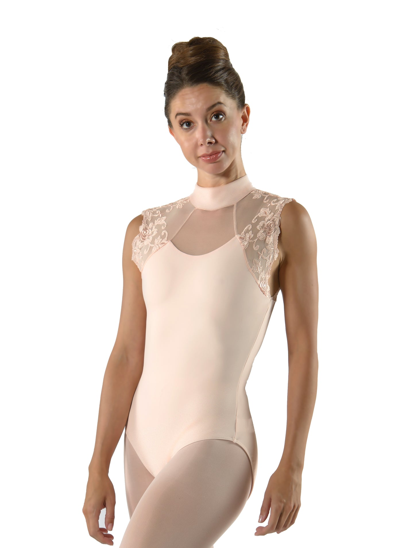 Berenice Lace High Neck Leotard - Adult