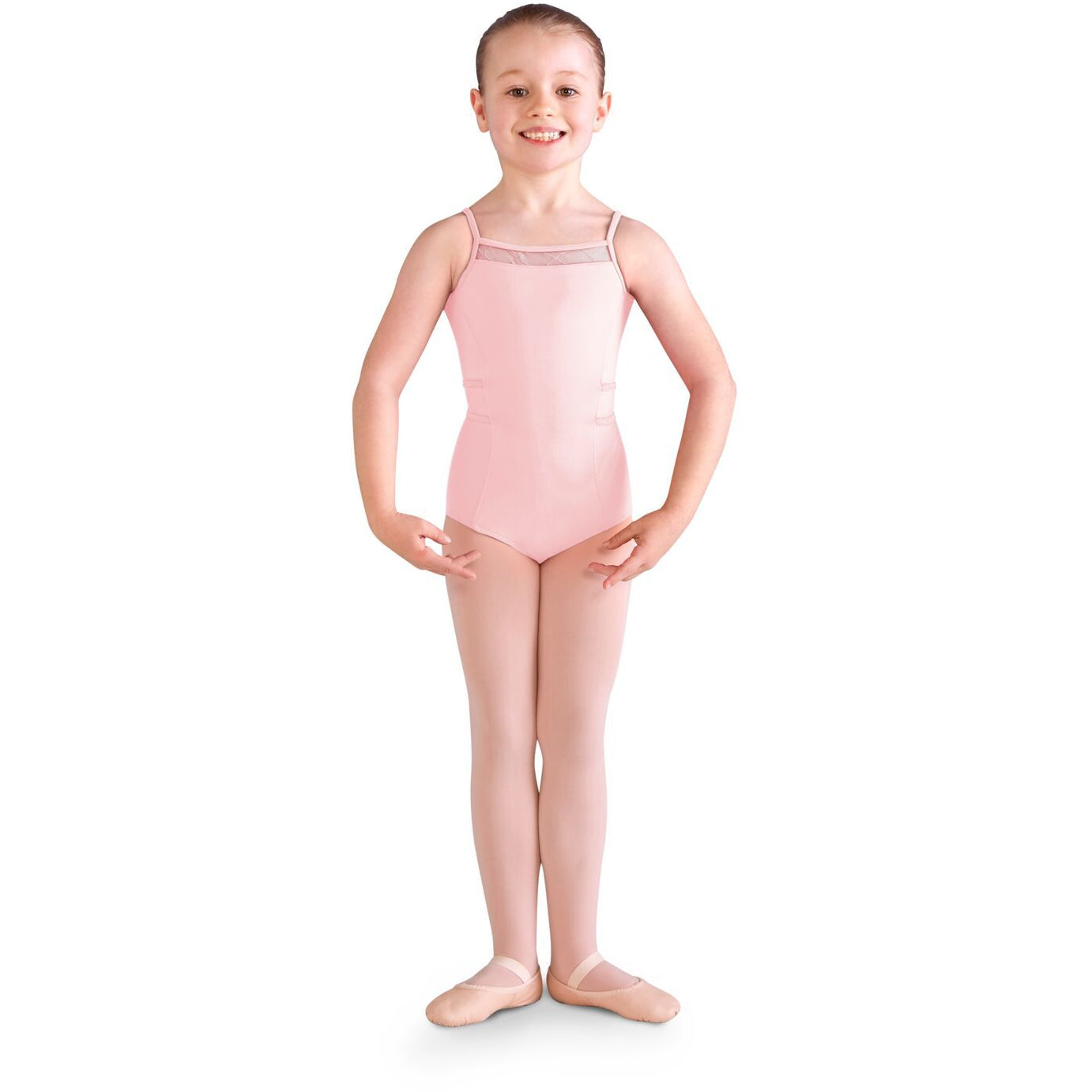 Diamond Heart Flocked Mesh Back Leotard - Child