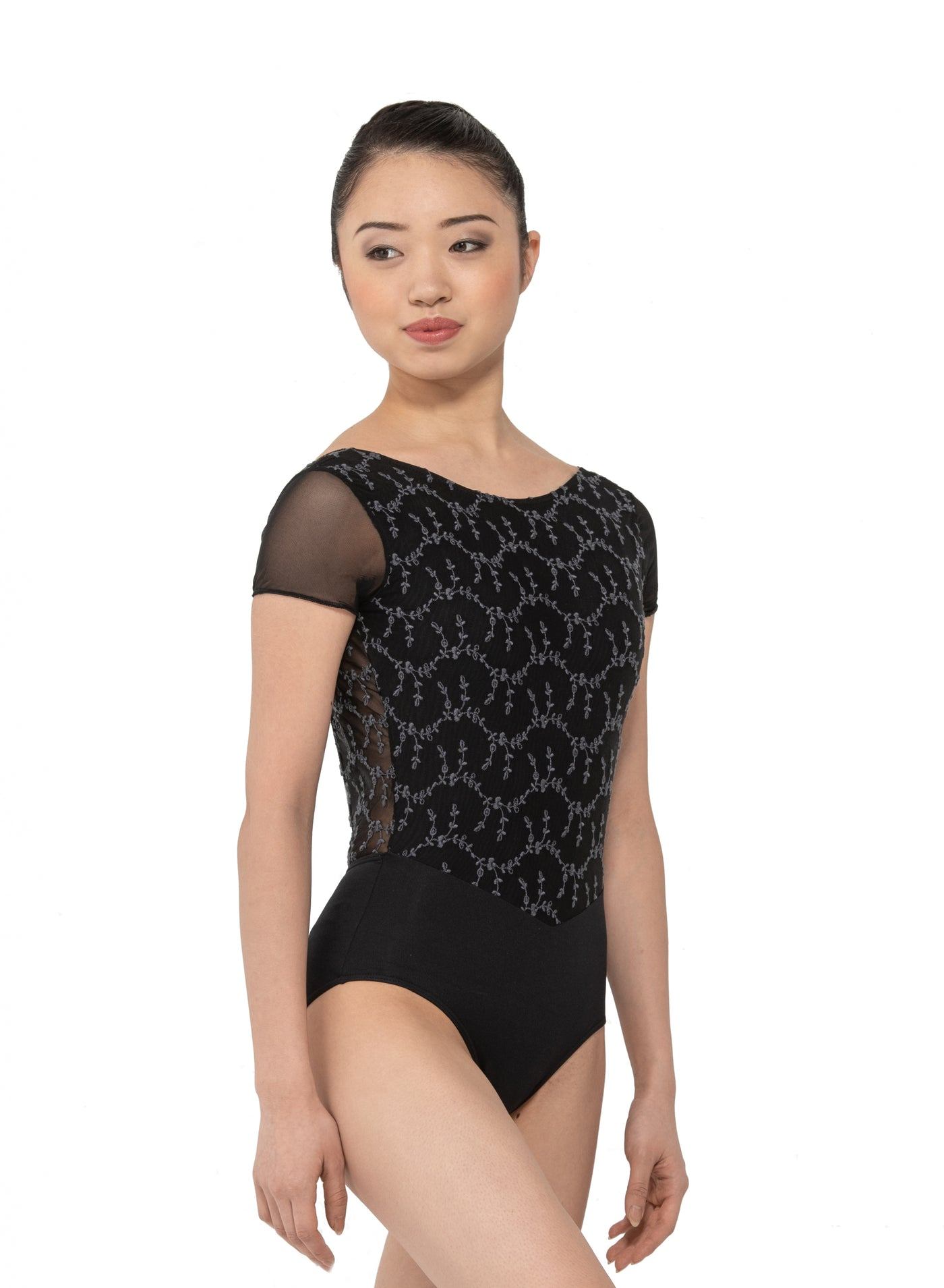 Coralie Embroidered Front Leotard - Adult
