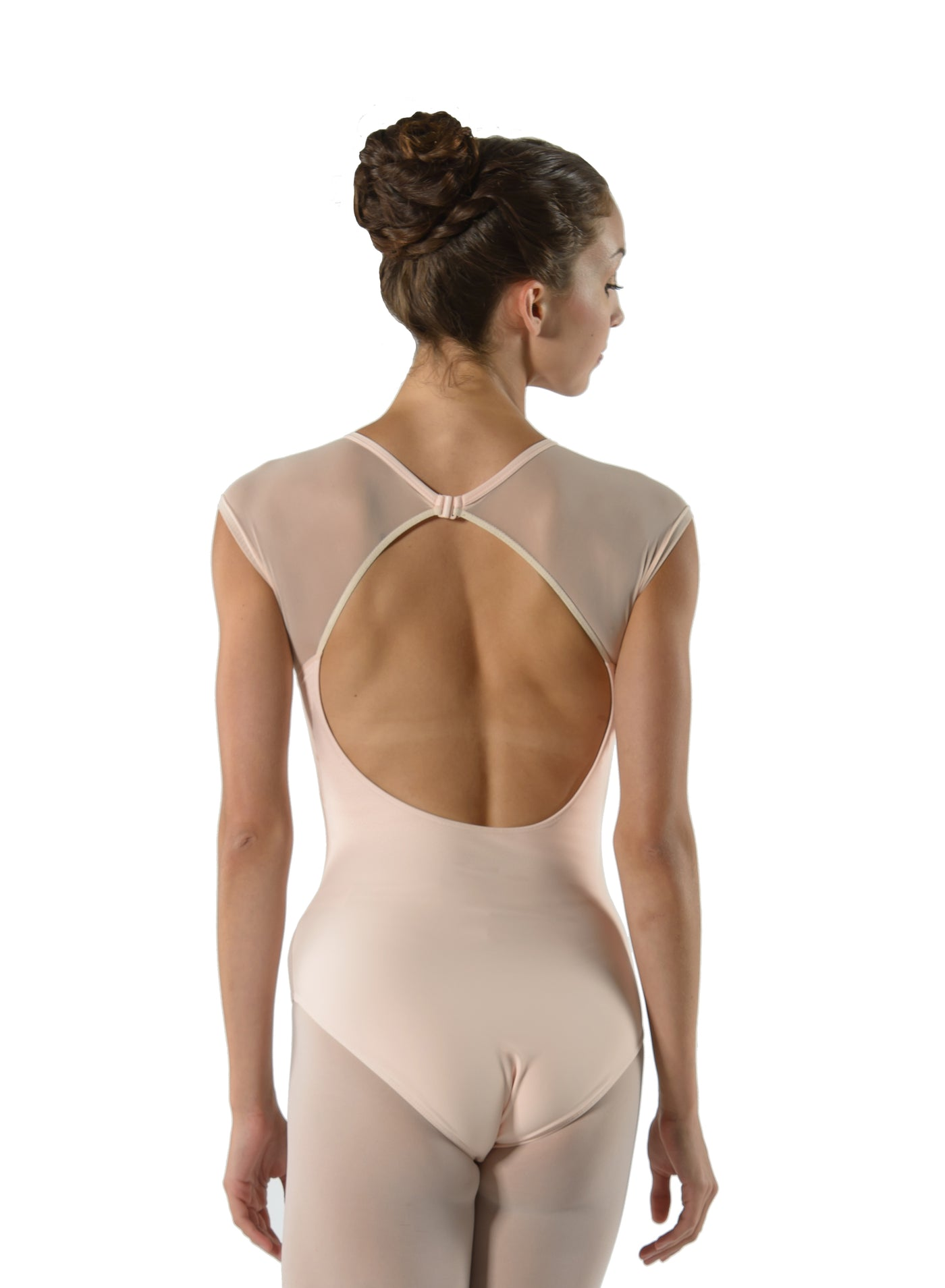 Gladys Cap Sleeve Leotard with Lace Panel - Child