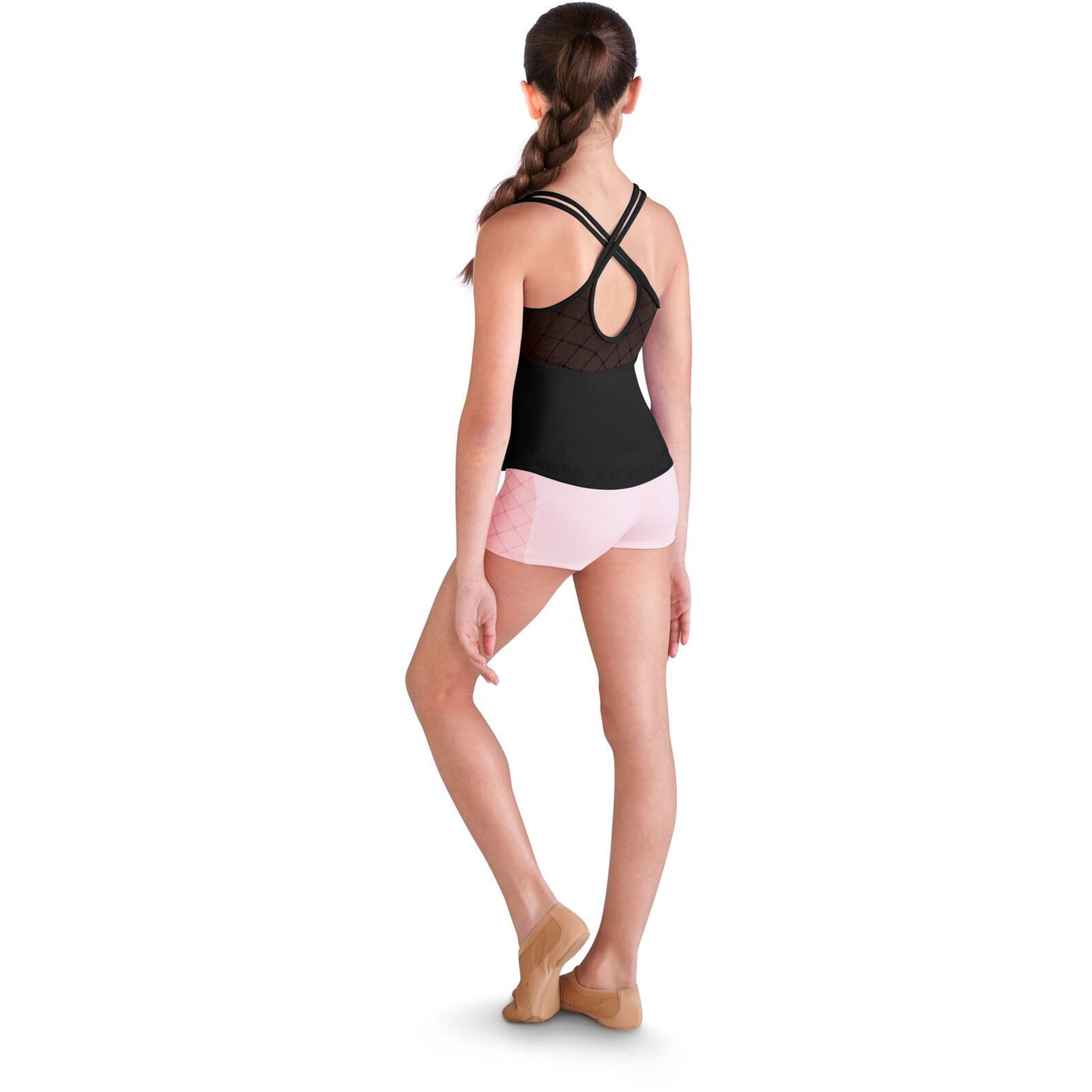 Diamond Mesh Yoke Back Tank - Child