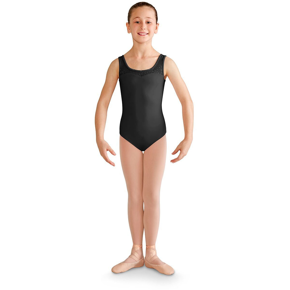Sweatheart Neckline Felina Mesh Open Back Leotard - Child