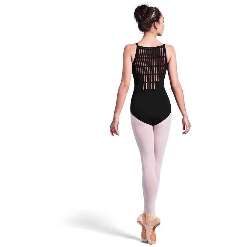Sheer Ladder Mesh Back Leotard - Adult