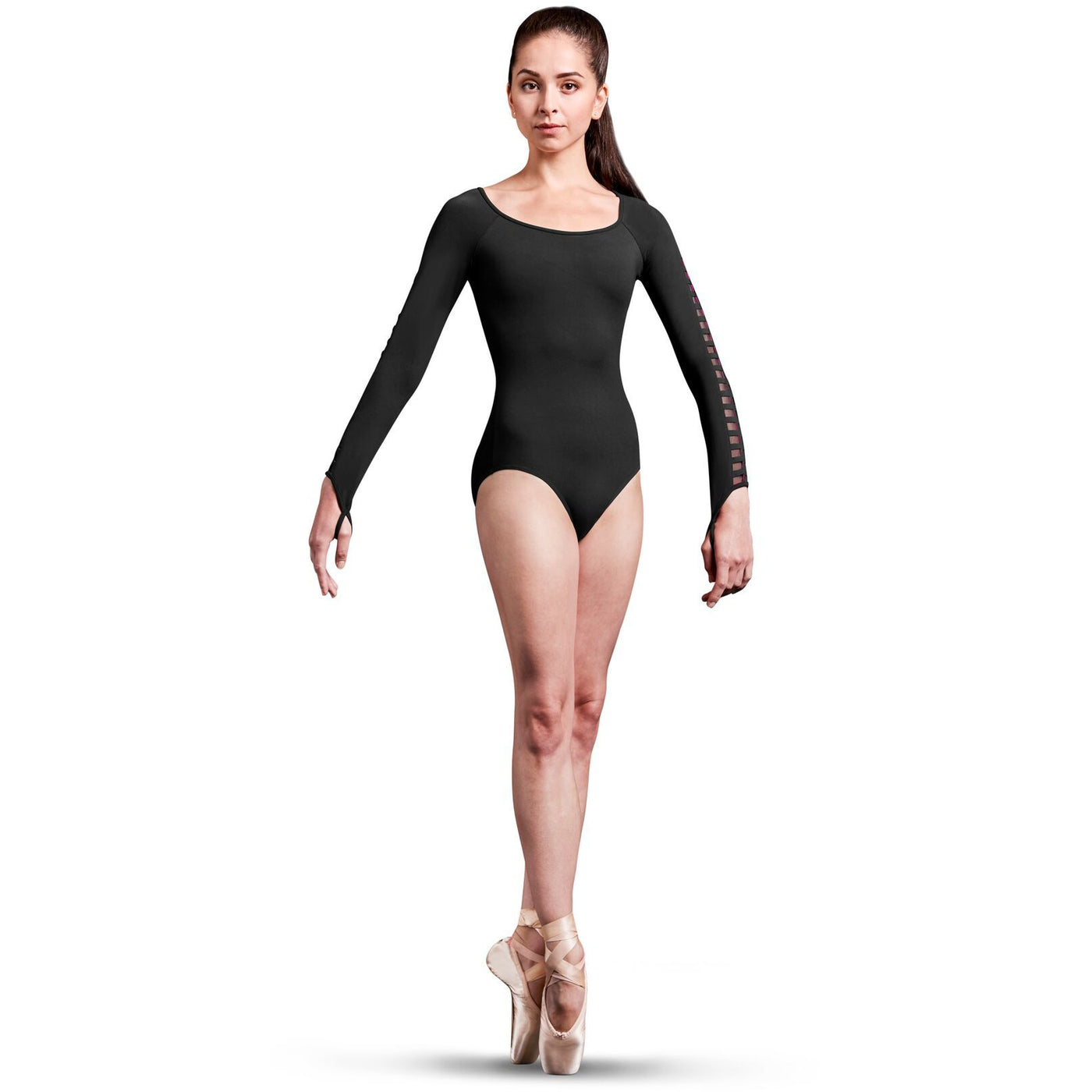 Caged Laser Cut Long Sleeve Leotard - Adult
