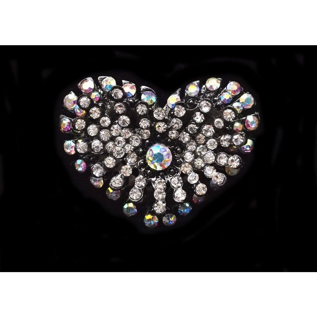 Heart Brooch with AB Stones - Inspirations Dancewear - 1