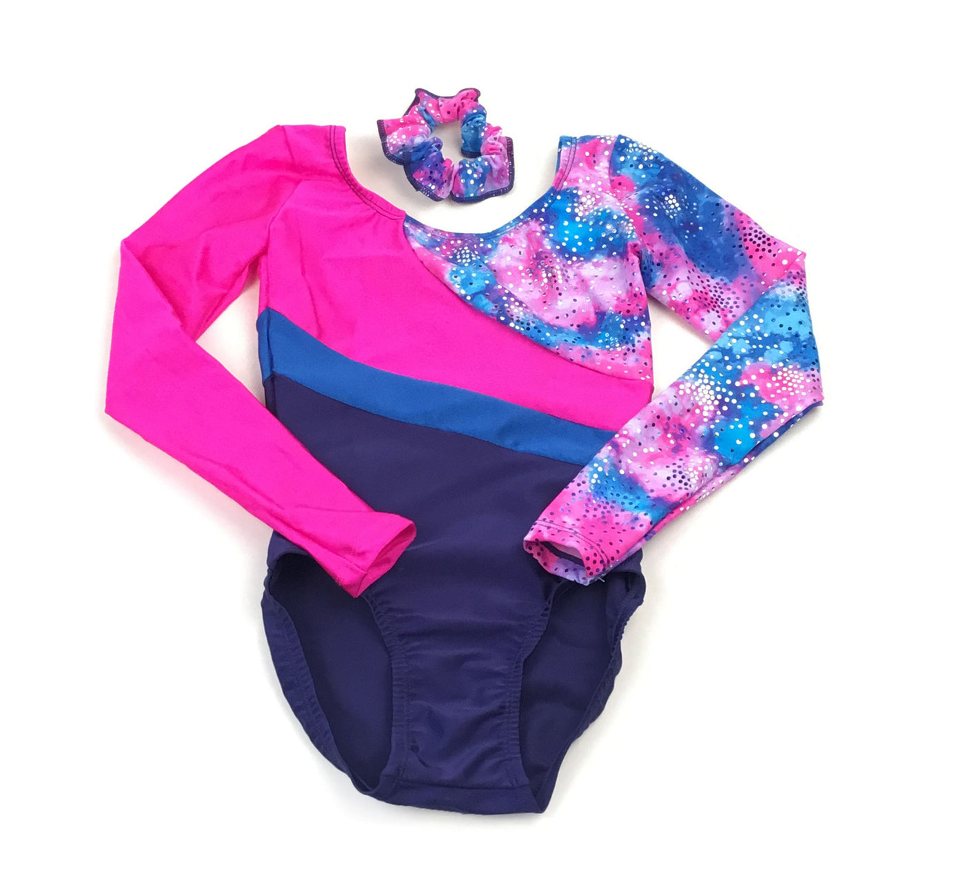Printed Long Sleeve Gymnastics Leotard - Child