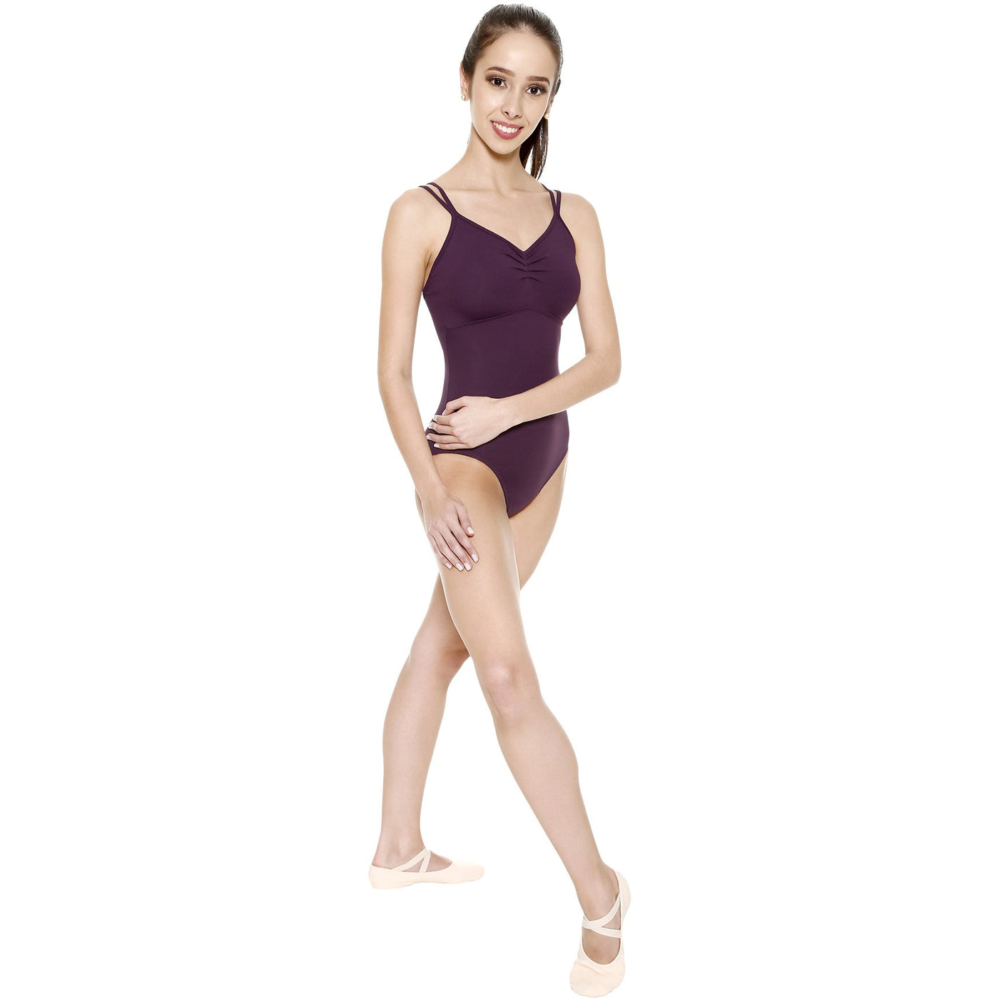 Looped Strappy Back Leotard - Adult