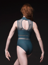 Zoe Mesh Stripe Leotard