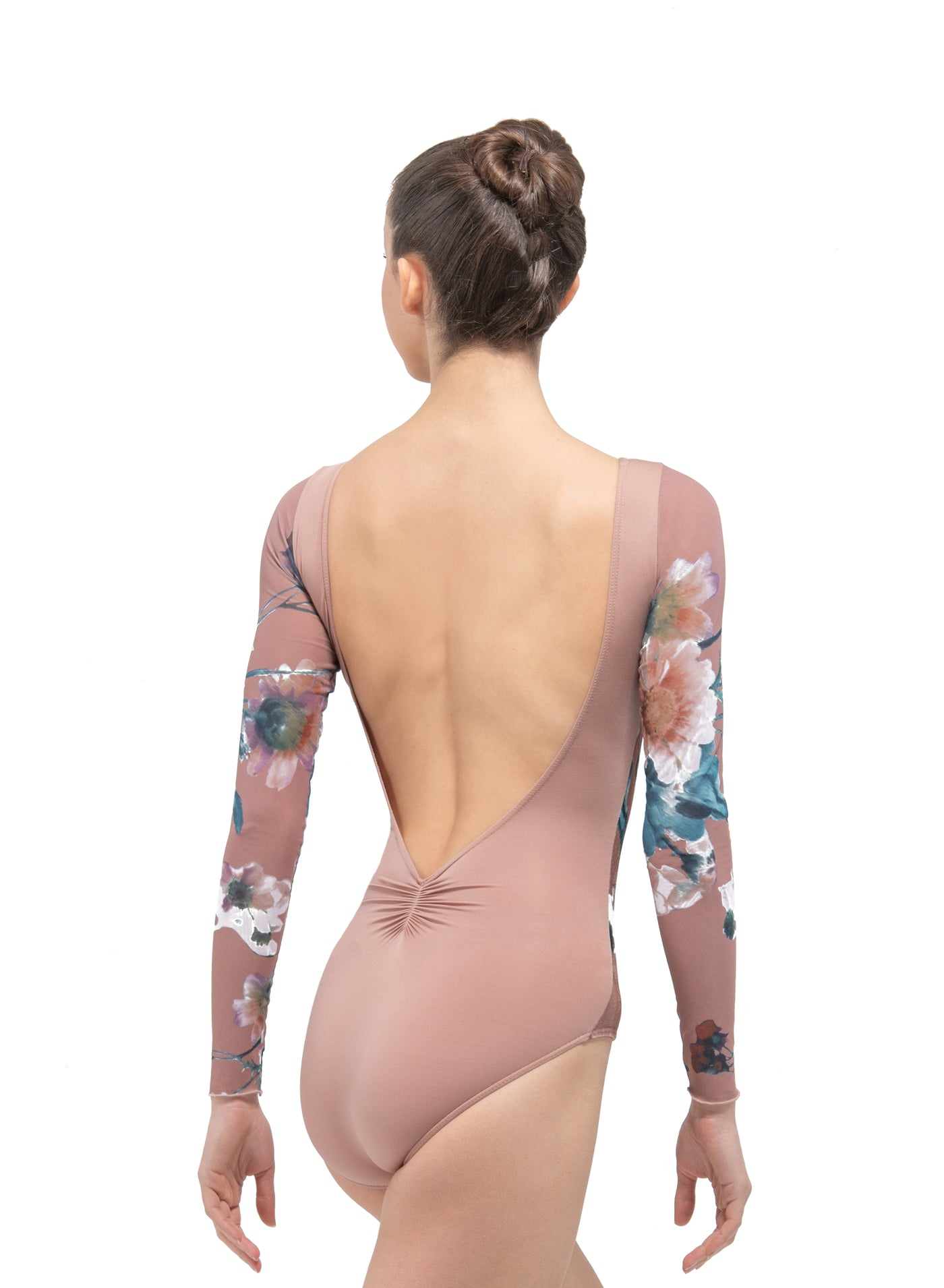 Serene Long Sleeve Floral Mesh Leotard - Adult