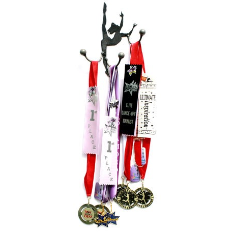 Dancer Medal Display Hook-Pewter Finish