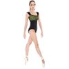 Lace Overlay Bust Leotard - Adult