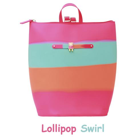 Yummy Scented Backpack - Lollipop Swirl, Pina Colada Scent