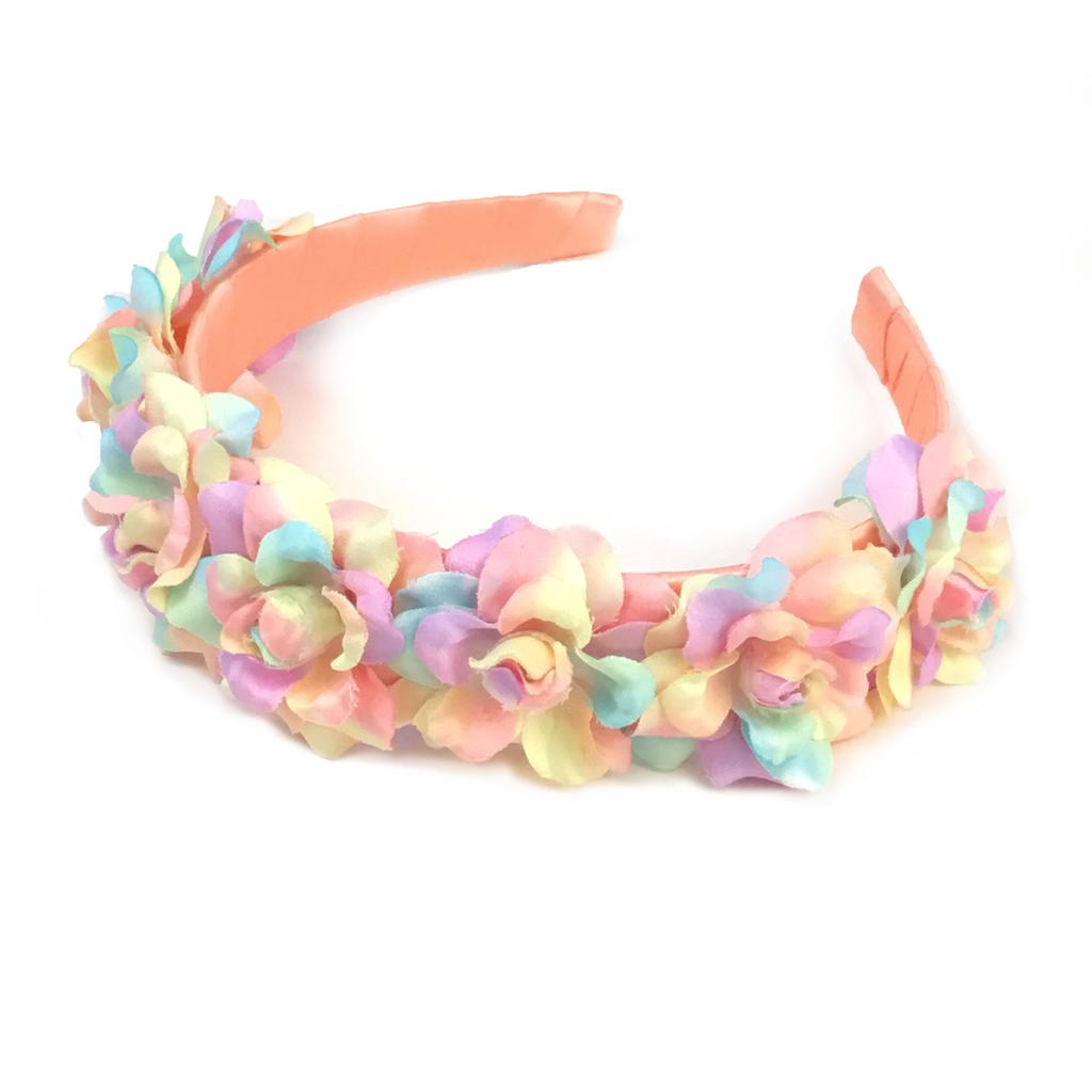 Rainbow Fabric Flower Headband