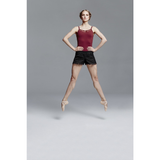 Shorts with Mesh Clover Embroidery - Inspirations Dancewear