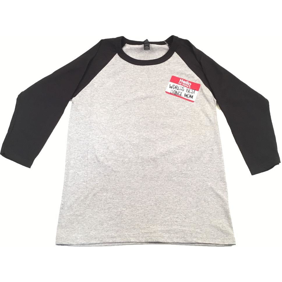 World's Best Dance Mom Baseball Tee - Adult