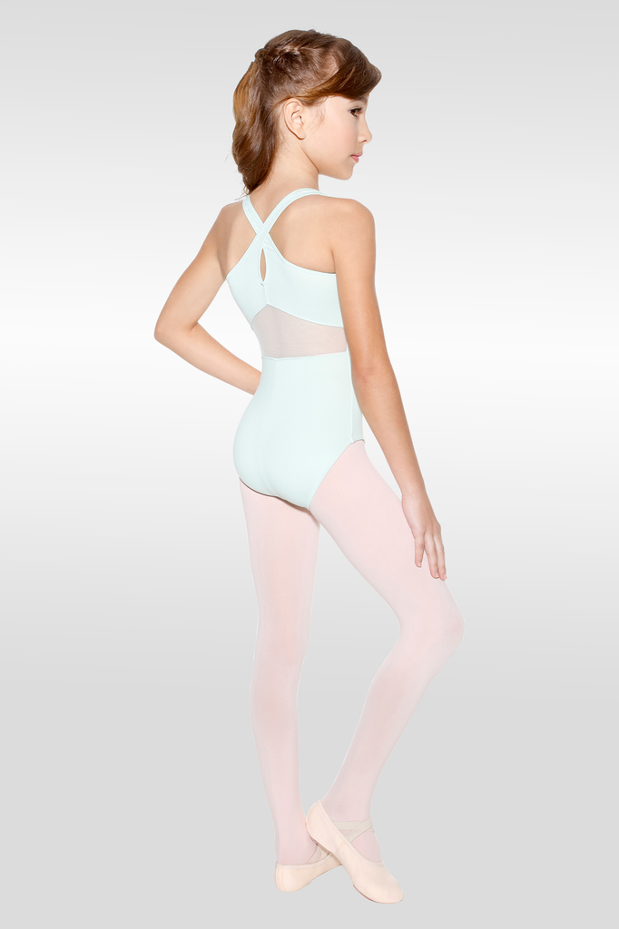 Dina Tank Leotard with Mesh Insert at Back - Child