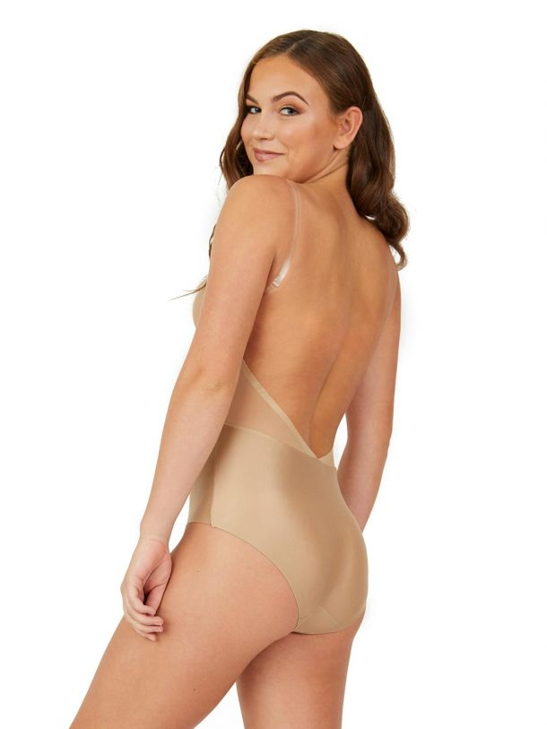 Lightweight Deep Back Nude Suit - Adult