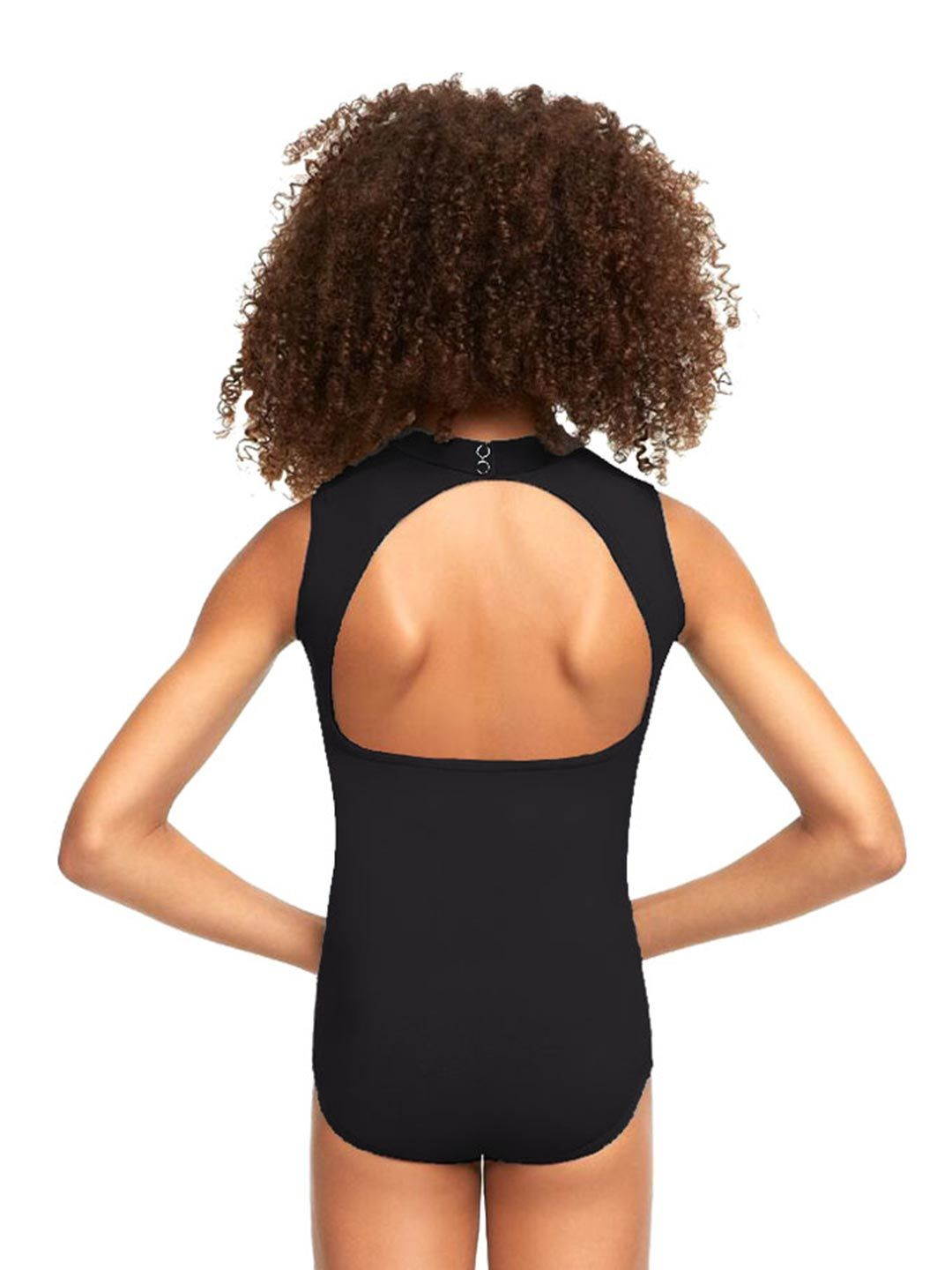 Polo Neck Leotard with Open Back - Child