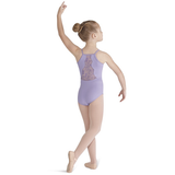 Scallop-Back Diamante Leotard with Clover Mesh Embroidery - Child - Inspirations Dancewear