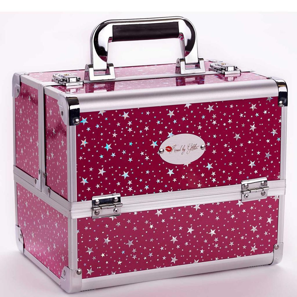 Hot Pink Star Makeup Case