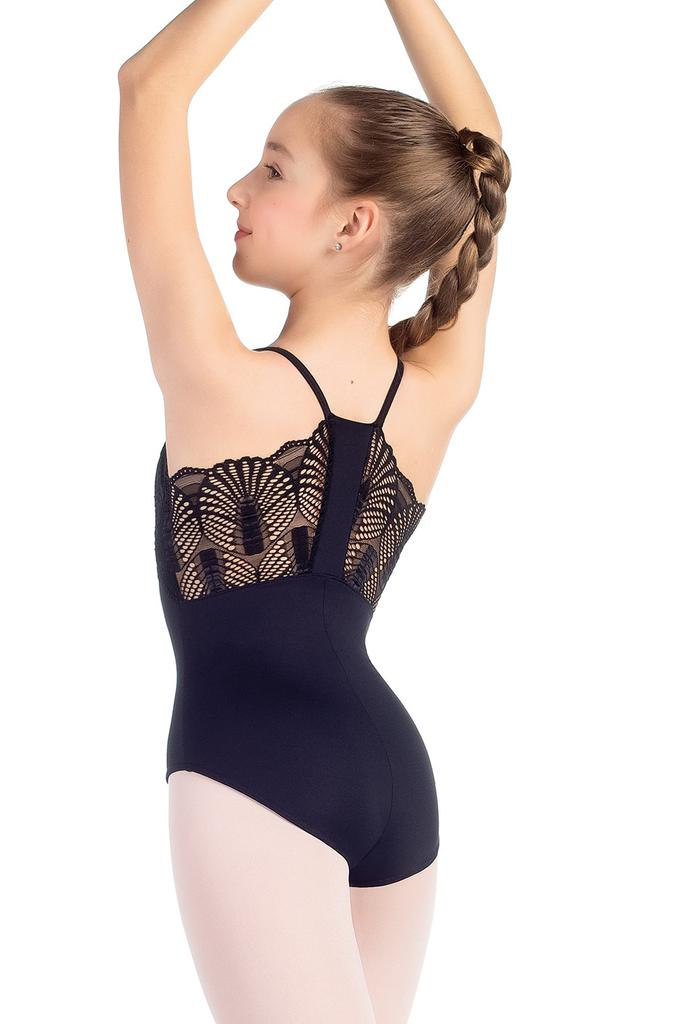 Fanned Lace Bodice Leotard - Child