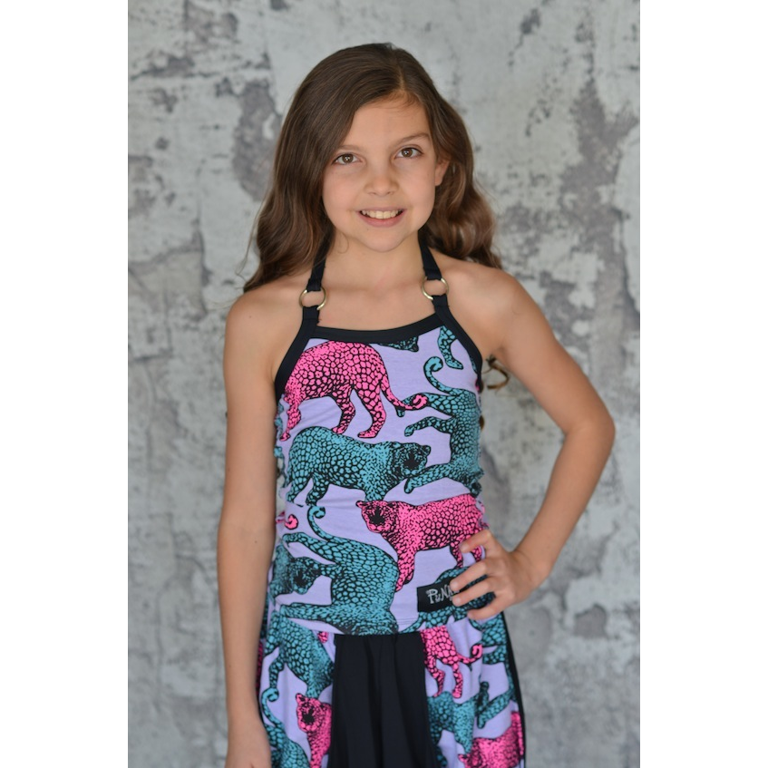 Pieced Ring Halter Top - Child - Inspirations Dancewear