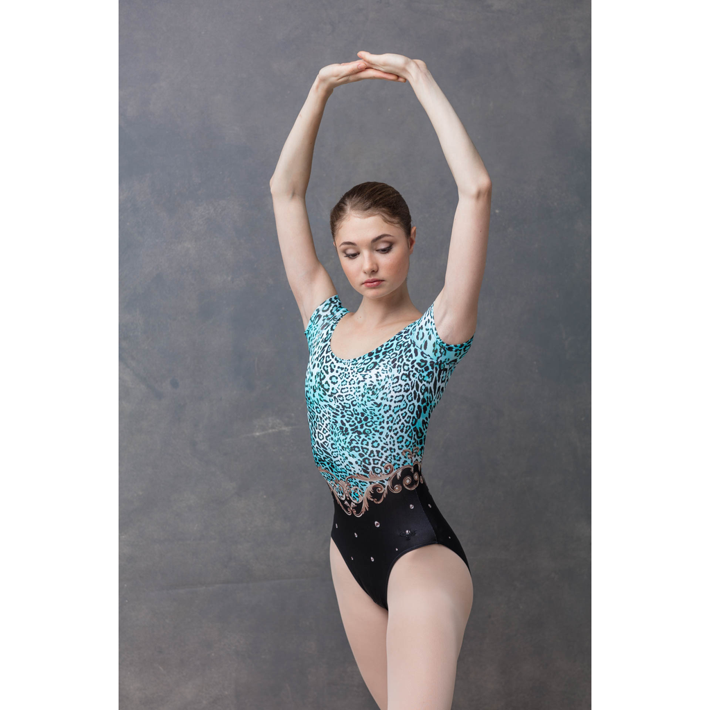 Leopard Cap Sleeve Leotard - Adult