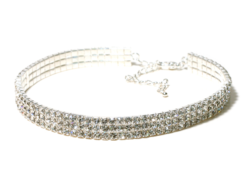 3 Row Choker - Clear - Adult